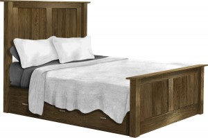 Heritage Panel Queen Bed with Drawer Units - $1,999.00