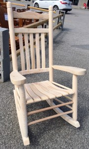 Unfinished Old Time Rocker - $179.00 Unfinished, $199.00 Stained