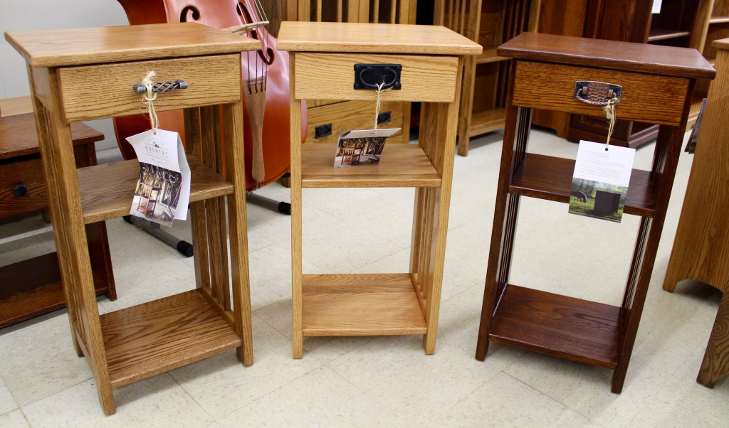Amish Phone Stands and Other Accessory Tables In Stock!