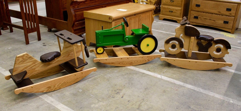 New For 2015! Child's Specialty Hobby Horses! Motorcycle, Airplane and Tractor!