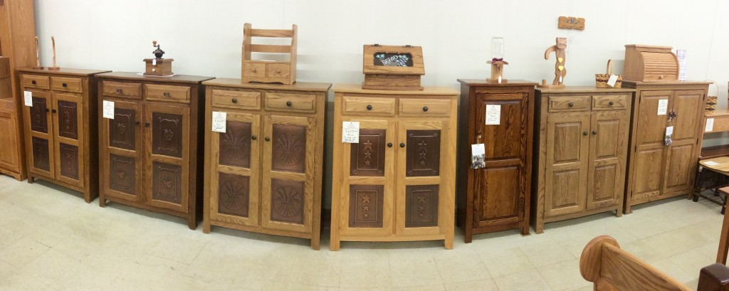 Great Selection of Amish Pie Safes and Pantries In Stock!