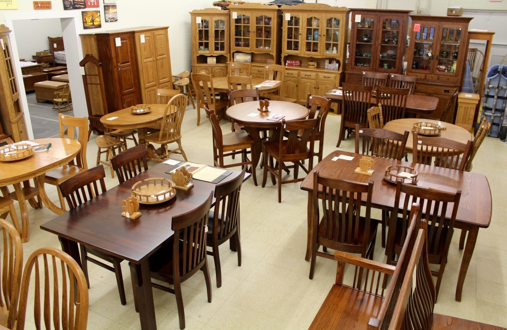 Large Display of Amish Dining Room Furniture!