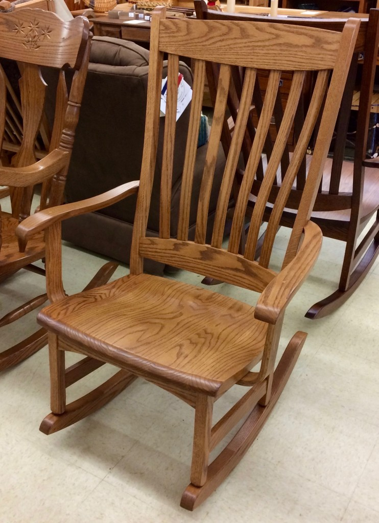 Many Amish Platform Rockers In Stock!