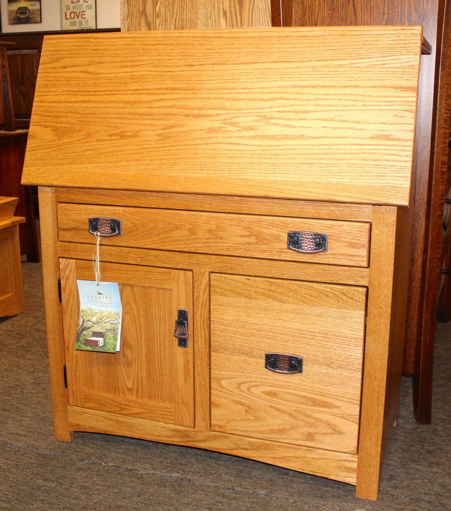 Mission Secretary Desk with File Drawer