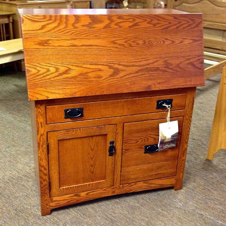 Charming Amish Mission Large Secretary Desk With File Drawer   $999.00