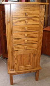 Shaker Jewelry Armoire With Door - $829.00