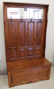 Raised Panel Hall Seat with 4 Panels - $679.00