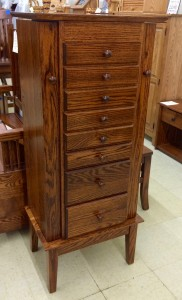 48″ Shaker Jewelry Armoire with 8 Drawers - $829.00