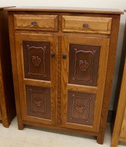 Pie Safe with Copper Apple Panels - $739.00