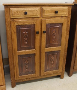 Pie Safe with Copper Tri-Star Panels - $739.00