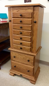 """48"""" Deluxe Jewelry Armoire With Clock Base - $839.00"""