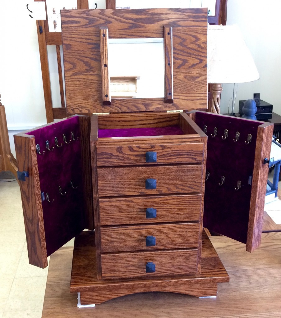 Thinking About Valentine's Day? We Have Lots of Amish Jewelry Boxes, Armoires and Chests In Stock!