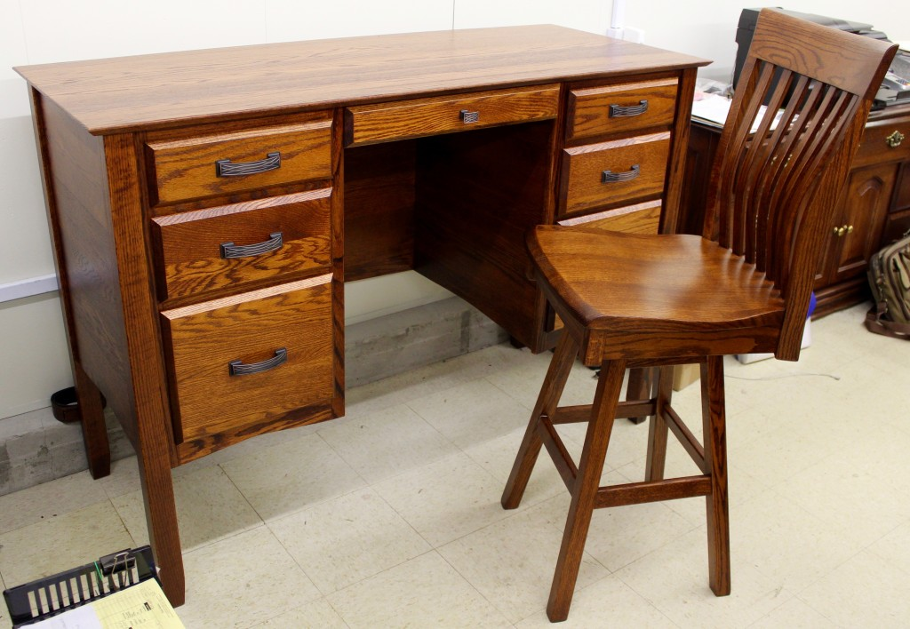 "Many new photos and items added to the ""Office"" section of our website! Stop in and see many of these new items in our store. We are excited about our Amish Standing Height Desk shown here!"
