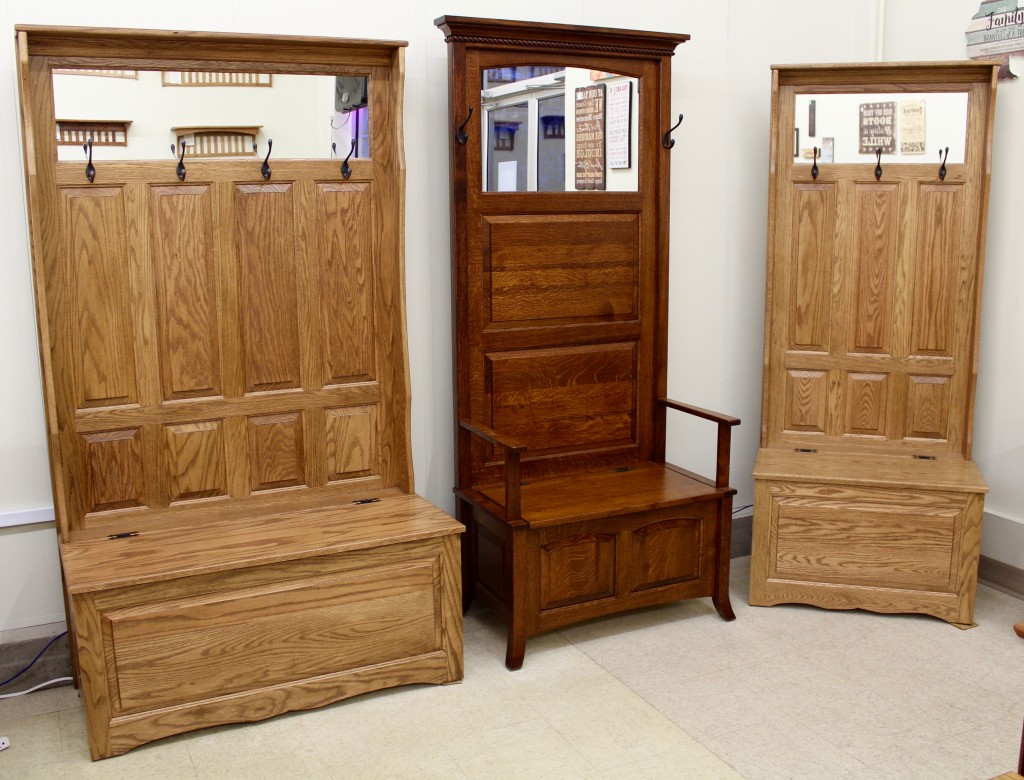 All Hall Seats Available in Oak, Brown Maple, Rustic Cherry, Rustic QSWO, Sap Cherry, Cherry, Hard Maple and QSWO !