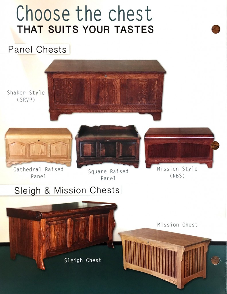 Many Styles of Chests Available!