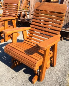 2′ High Back Glider - $229.00 Stained, $199.00 Unfinished