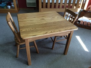 Square Child's Table w/ Two Chairs – $269.00