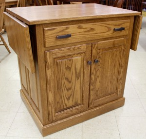 Traditional Raised Panel Island with Drop Leaf Top - $1,239.00