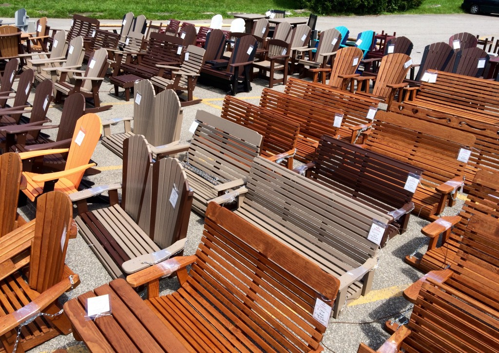 Now Arriving Weekly for Spring and Summer 2016! New Outdoor Furniture Items in Wood and Maintenance Free Poly!