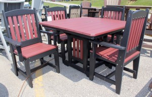Poly 44″ Square Regular Height Table and Chair Set - $1,419.00