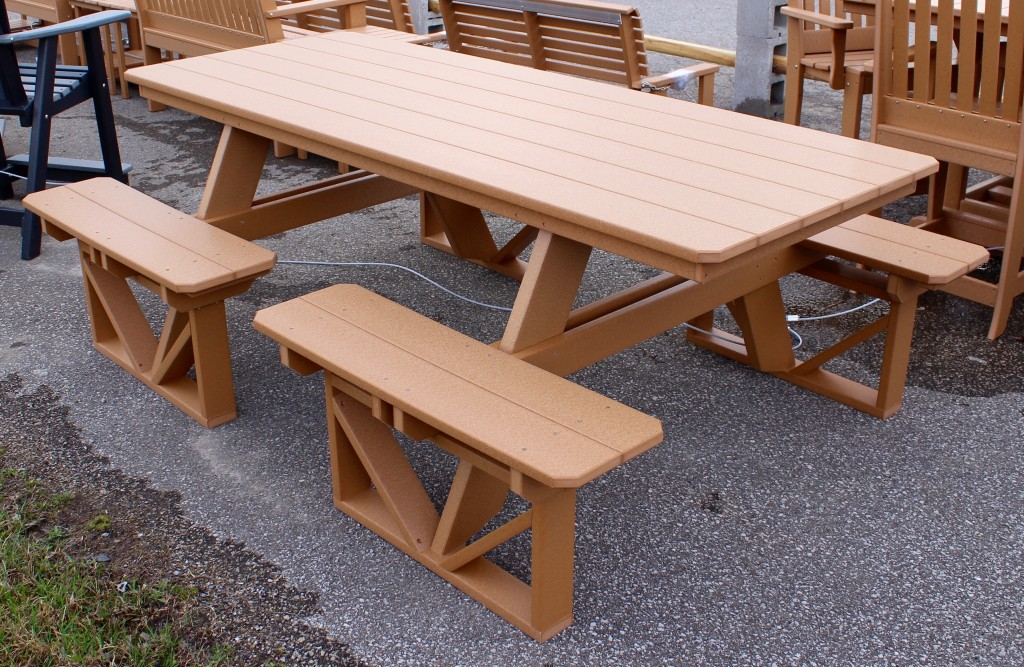 Poly Walk In Picnic Table Amish Traditions WV - Walk in picnic table