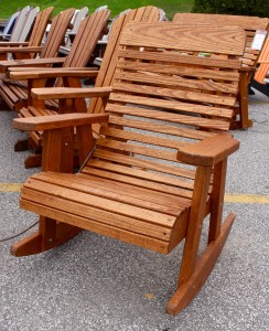 High Back Rocking Chair - $179.00 Stained, $149.00 Unfinished