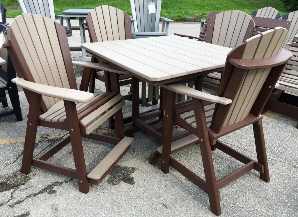 Poly 44? Square Counter Height Table and Adirondack Chair Set ...