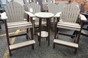 Poly Adirondack Balcony Table and Chair Set - $819.00