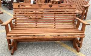 5′ Heart Glider - $299.00 Stained, $259.00 Unfinished