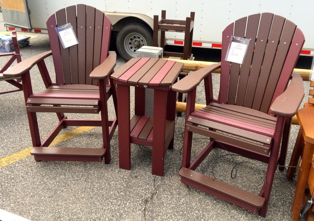 Poly Adirondack Counter Height Table And Chair Set Amish