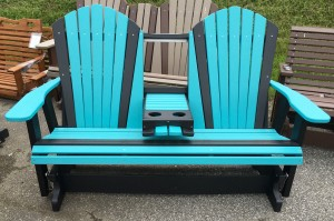 Poly 5′ Adirondack Glider with Fold Down - $719.00