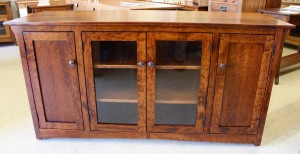 Mission 62″ TV Entertainment Center in Rustic Cherry - $979.00