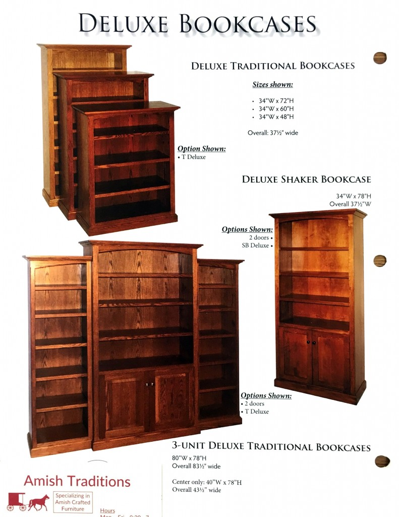 bookcases img traditions raised panel wide amish wv bookcase