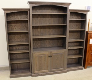6 1/2′ Deluxe Traditional 3-Piece Bookcase Wall Unit [83 1/2″ Wide] - $1,789.00