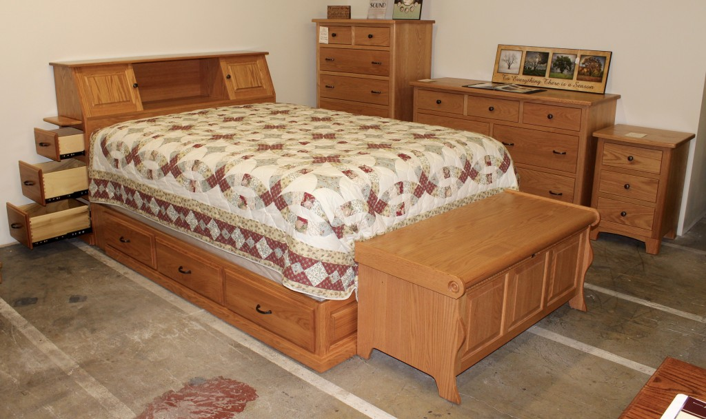 Space Saver Drawer Bed with Brockton Dresser, Chest of Drawers and Night Stand