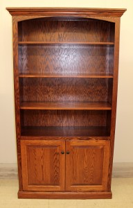 "6 1/2′ Deluxe Traditional Bookcase with Doors [43 1/2"" Wide] - $989.00"