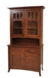 Vienna 2-Door Hutch - $1,729.00 in Oak, $2,239.00 in QSWO As Shown