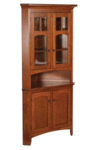 "30"" Vienna Corner Hutch - $1,179.00 in Oak Wood, $1,529.00 in QSWO As Shown"