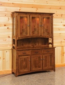 "Austin 60"" 3-Door Hutch - $2,659.00 in Oak, $2,919.00 in Rustic QSWO As Shown"
