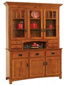 Century Mission 3-Door Hutch - $2,359.00