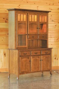 Galveston 3-Door Hutch - $2,519.00 in Oak, $2,769.00 in Rustic QSWO As Shown