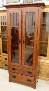 Beau 8 Gun Mission Cabinet In Cherry   $899.00 In Oak, $1,069.00 As Shown In  Cherry