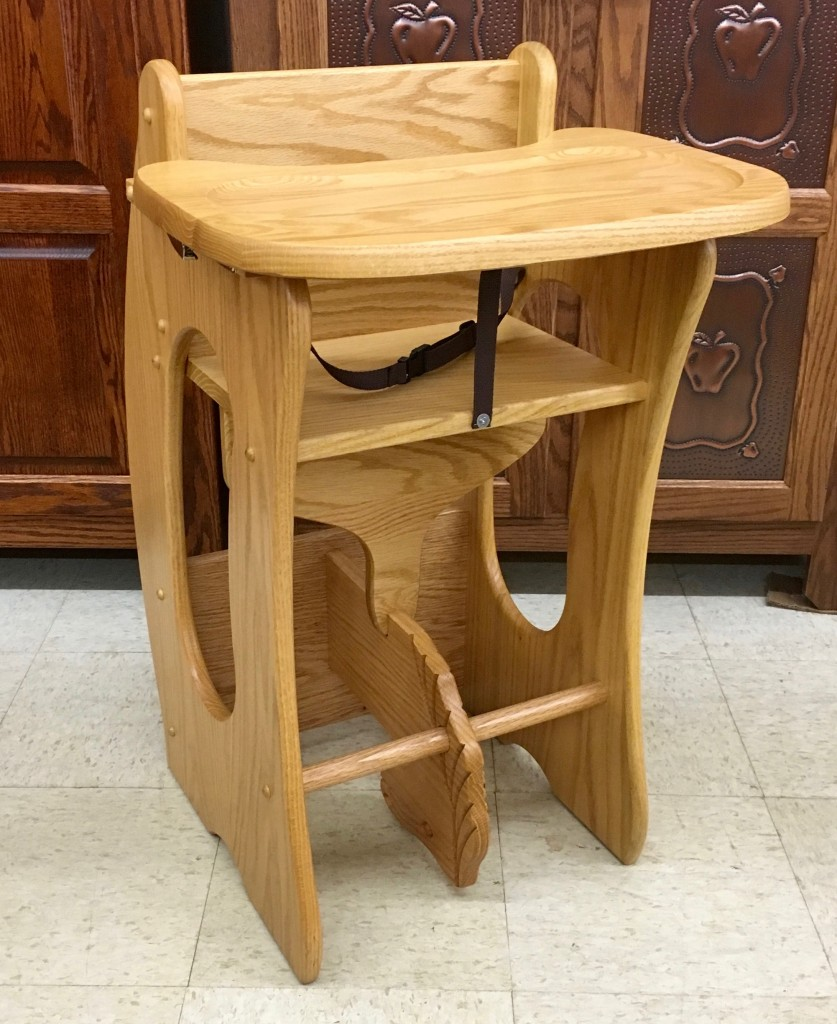 Amish wooden high chairs -  3 In 1 With Tray High Chair Hobby Horse Desk