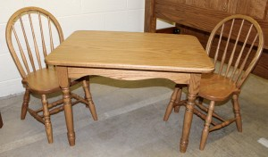 Deluxe Child's Table with Two Bow Back Child's Chairs - $329.00