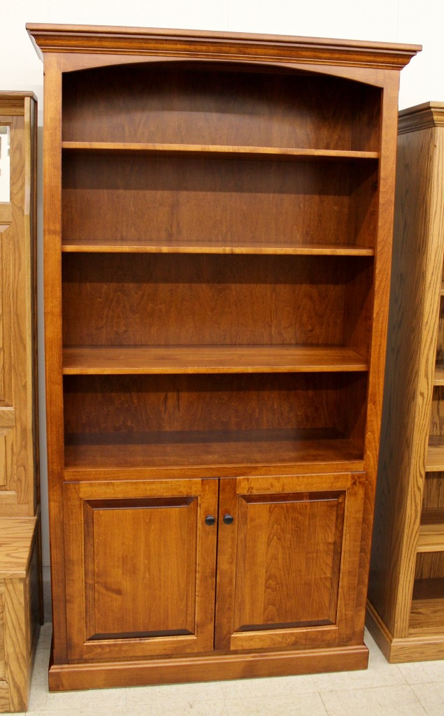 6 1 2 deluxe traditional bookcase with doors 43 1 2 wide amish traditions wv. Black Bedroom Furniture Sets. Home Design Ideas