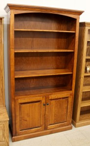 6 1/2′ Deluxe Traditional Bookcase with Doors [43 1/2″ Wide] - $989.00