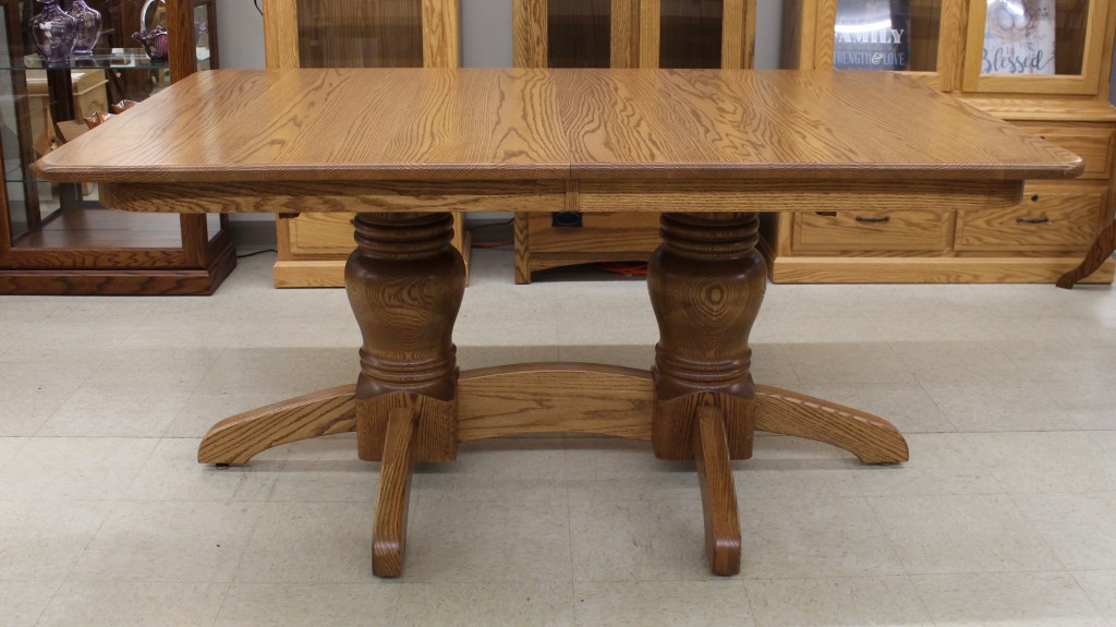 Round Mission Double Pedestal Table - $1,359.00