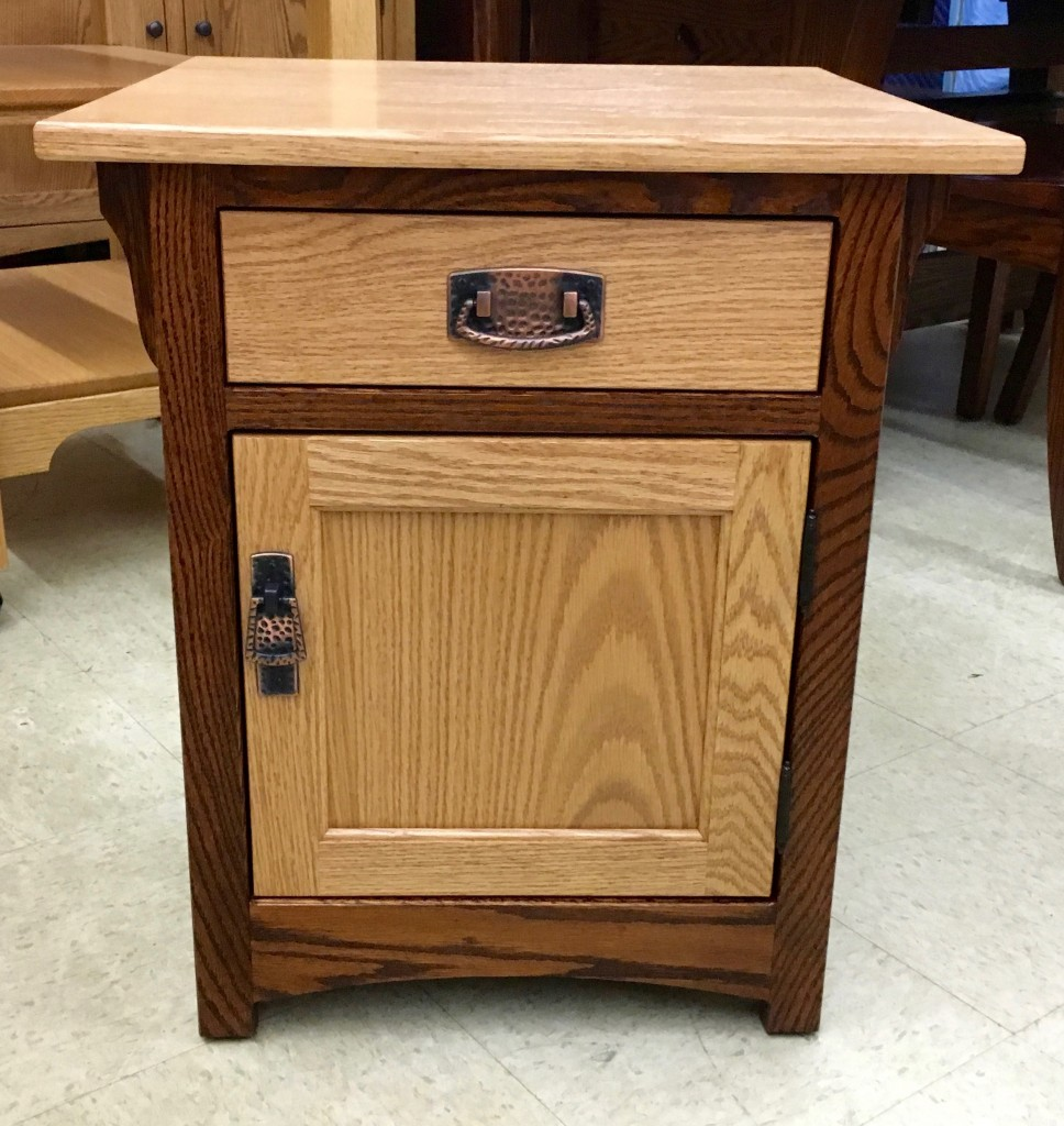 Mission 1 Door End Table With Two Tone Finish