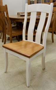 Austin Side Chair - $199.00 in Oak Wood, $239.00 As Shown with Two-Tone Rub Through Finish