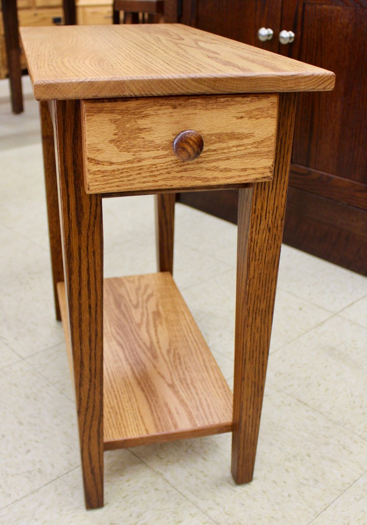 Shaker Chair Side Table With Two Tone Finish Amish